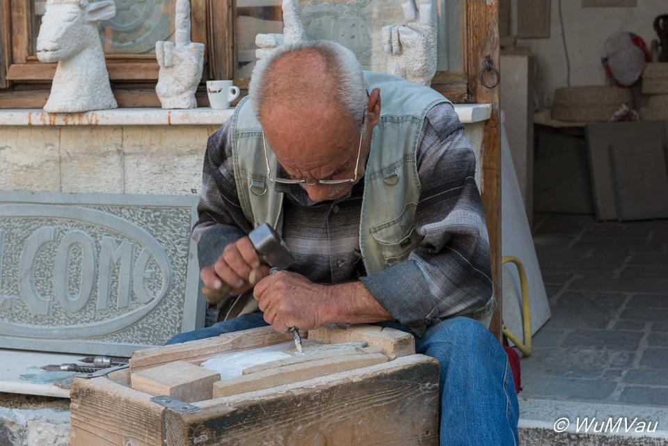 Handwerker in Gjirokaster